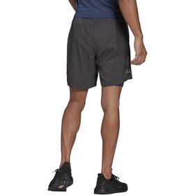 "adidas OWN The Run 2N1 Shorts 7"" Herrer, grå"